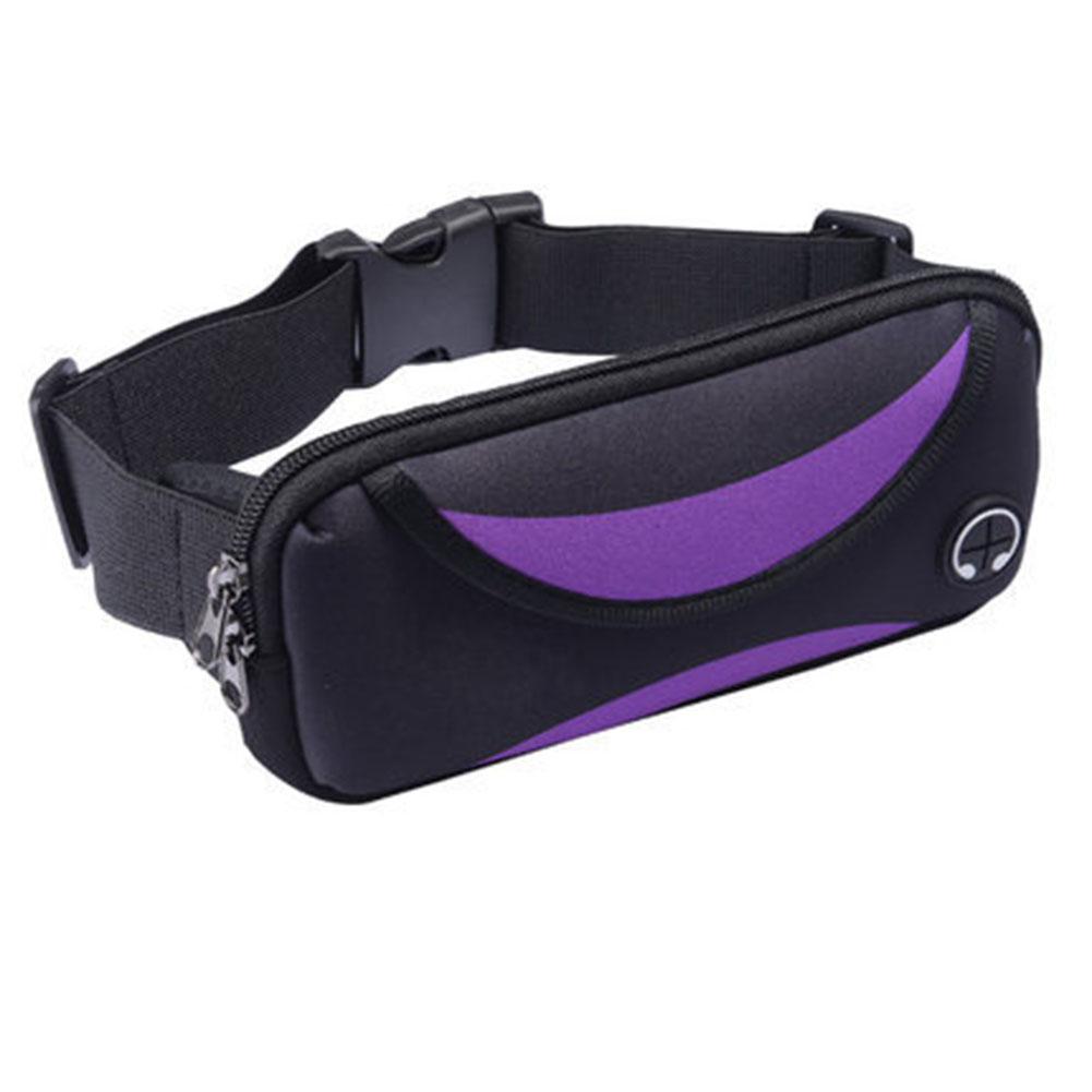 Outdoor Sports Waist Pack Bag Casual Fashionable Waist Pocket Portable Purse  purple_One size