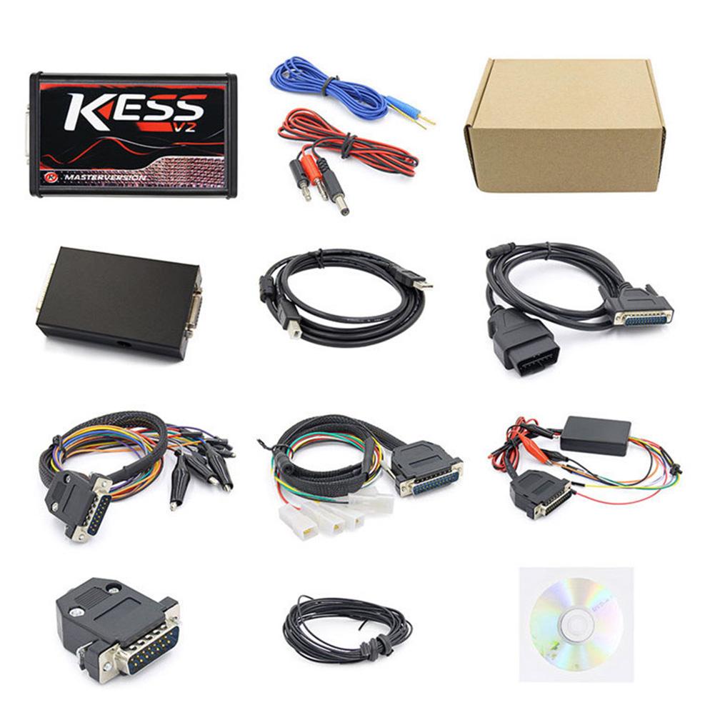KESS V2 V2.47 V5.017 ECU Power Upgrade Diagnostic Instrument Car Engine Tester black_24*22*8