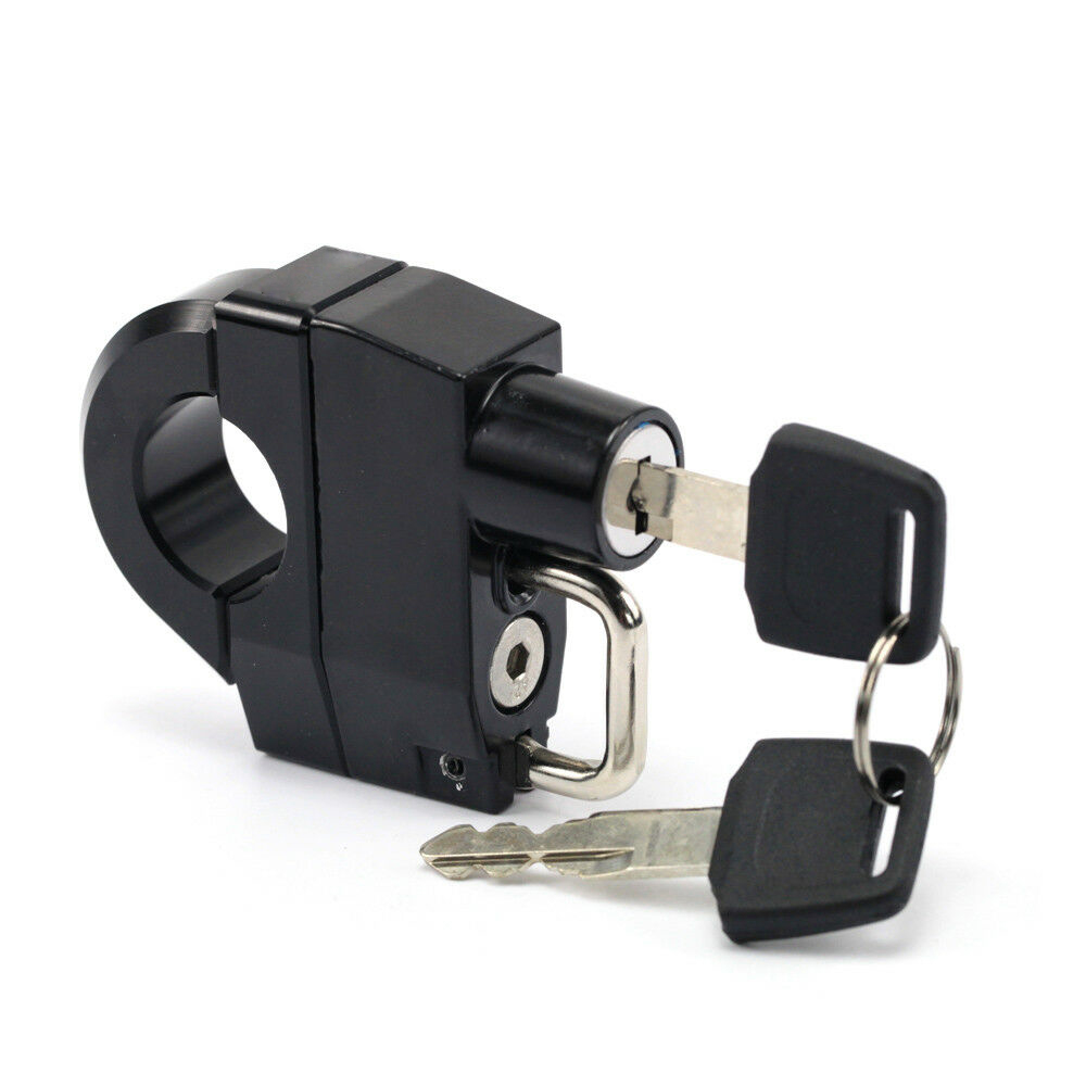 Motorcycle 25mm Handlebars Helmet Lock For -DAVIDSON XL 883 1200 black