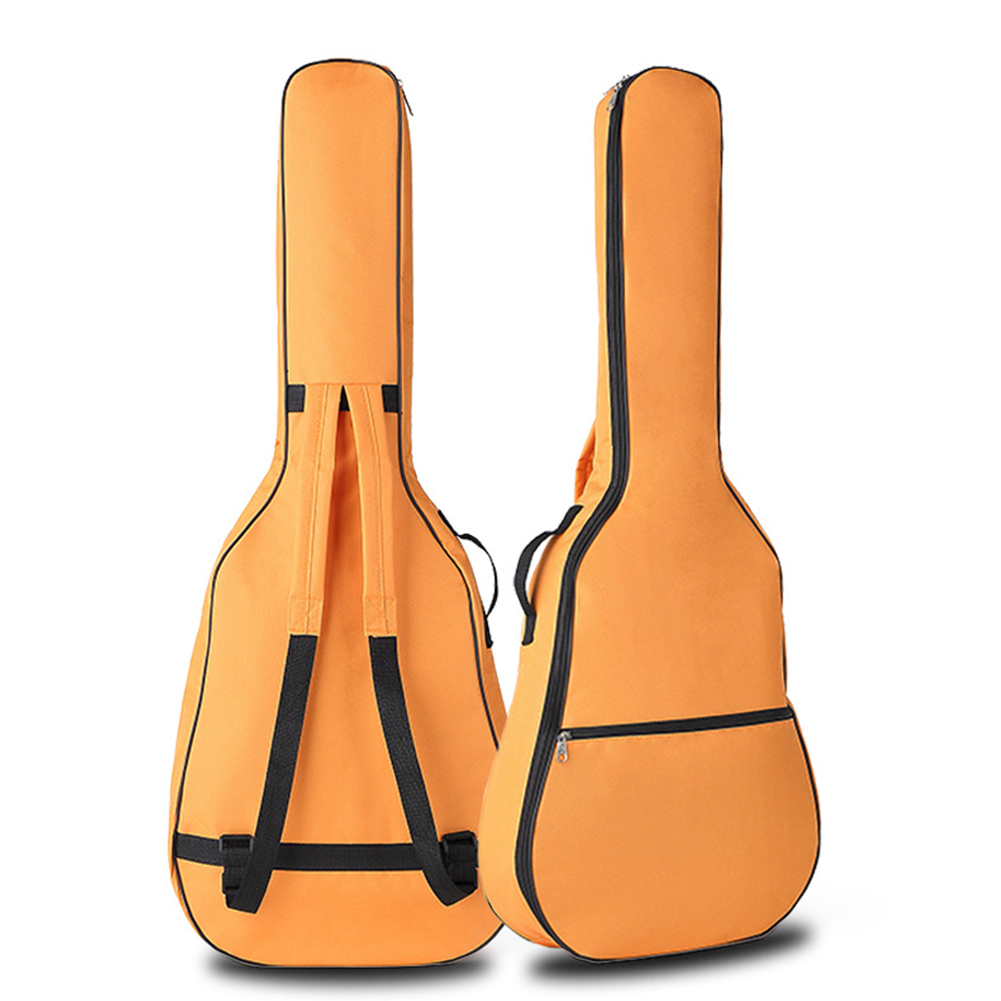 Portable Double Straps Acoustic Guitar Soft Carry Case Gig Bag  Orange