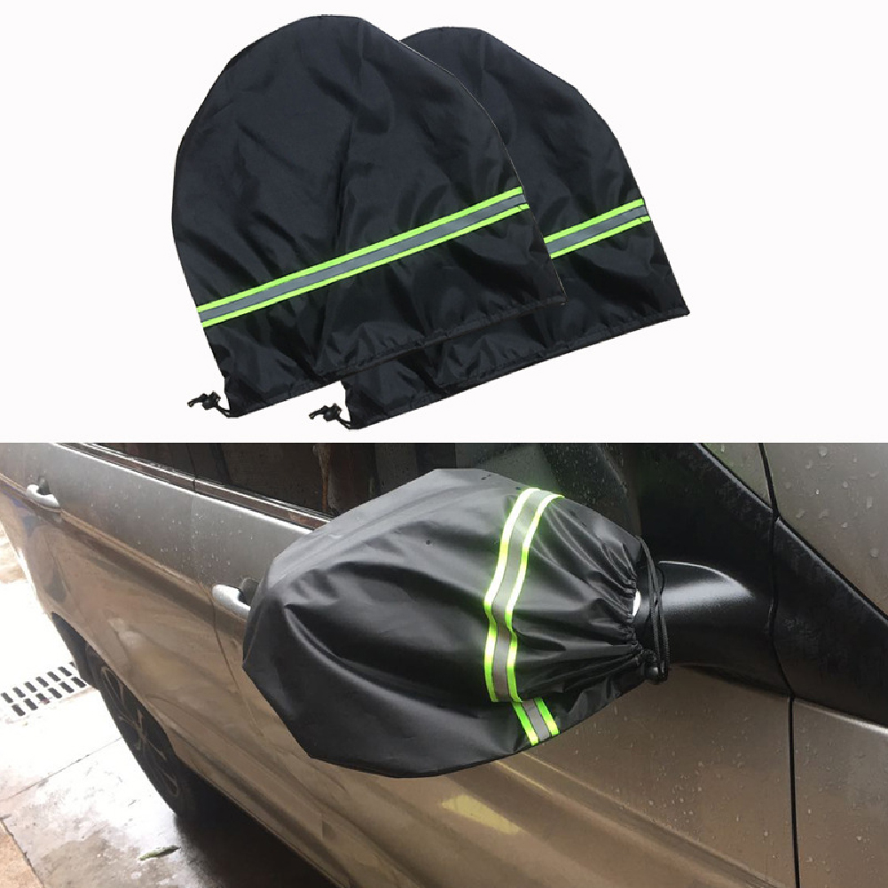 Car Windshield cover Wiper Protector Auto Sunshade for Car Waterproof Windshield Frost Cover Pair of silver-coated ears
