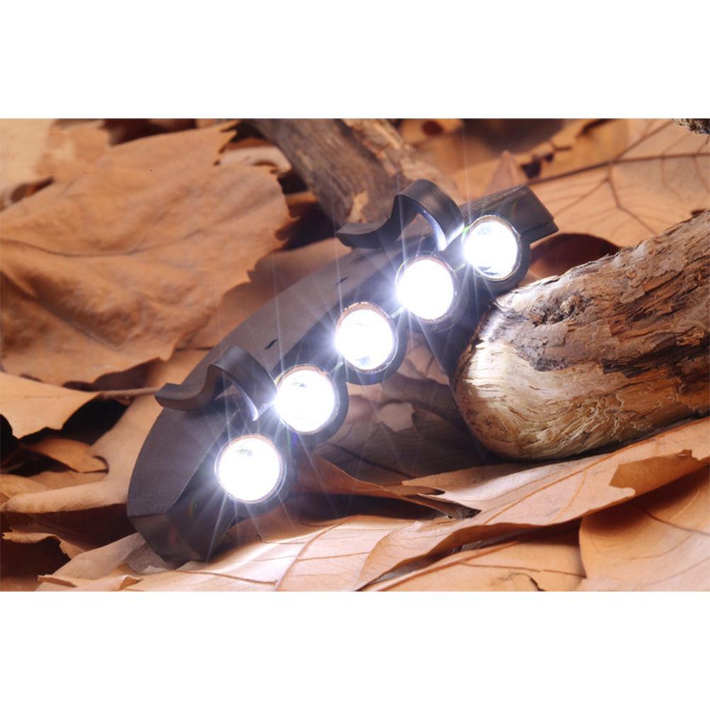5LED/6LED Clip Cap Light Highlight Headlight Sports Hat Light Lamp Outdoor Sports Night Fishing Lights 5LED
