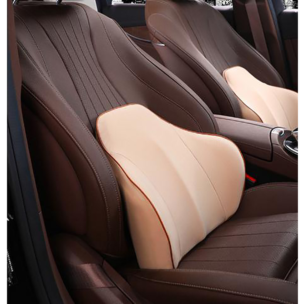 Lumbar Cushion Lower Back Support Pillow for Car Seat Office Chair  Beige_36*43*5CM