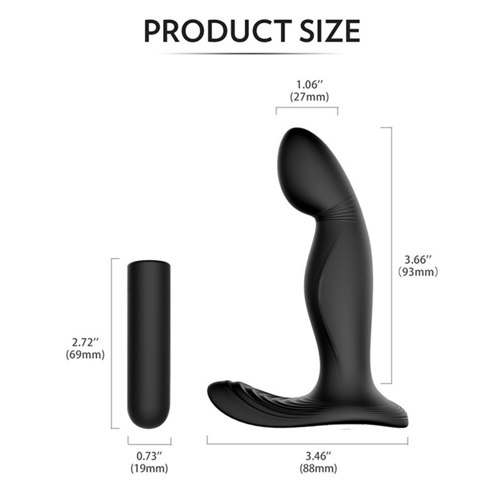 Anal Vibrator Prostate Massager with Finger Movement Technology 9 Vibration Modes Wireless Control black_Non-remote version
