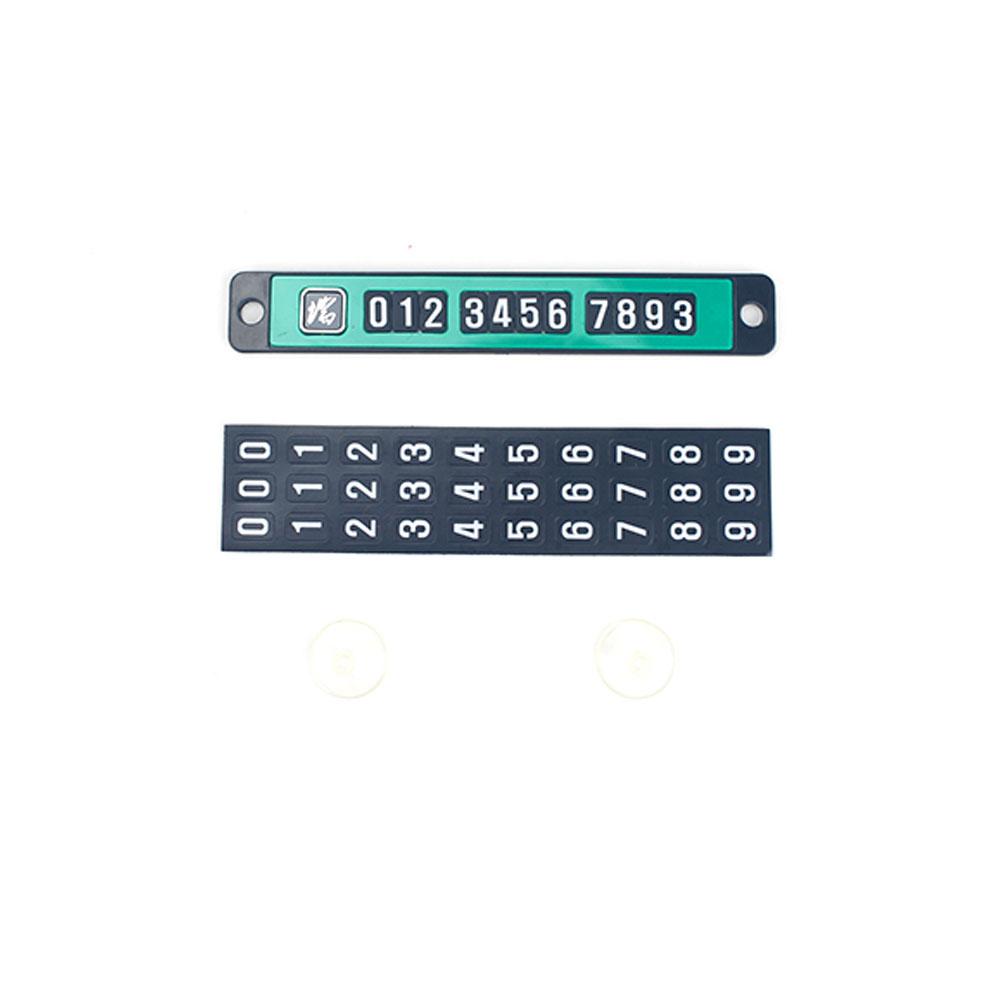 Magnet Car Temporary Phone Parking  Card Luminous Number Plate Car Parking Card green