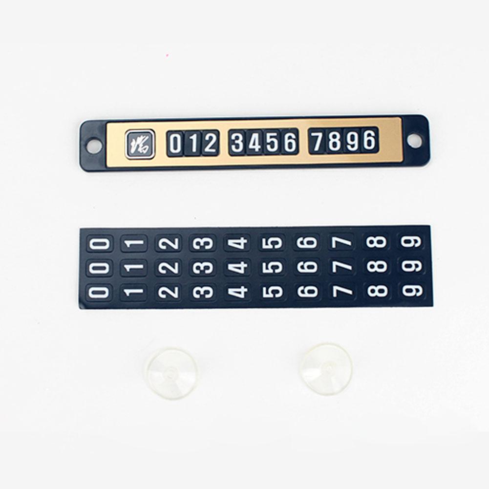 Magnet Car Temporary Phone Parking  Card Luminous Number Plate Car Parking Card Golden