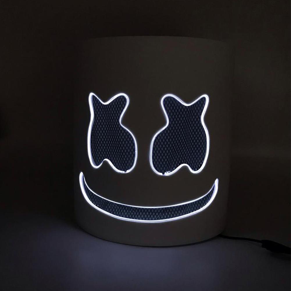 Unique Luminous Mask for Bar Party Wear white
