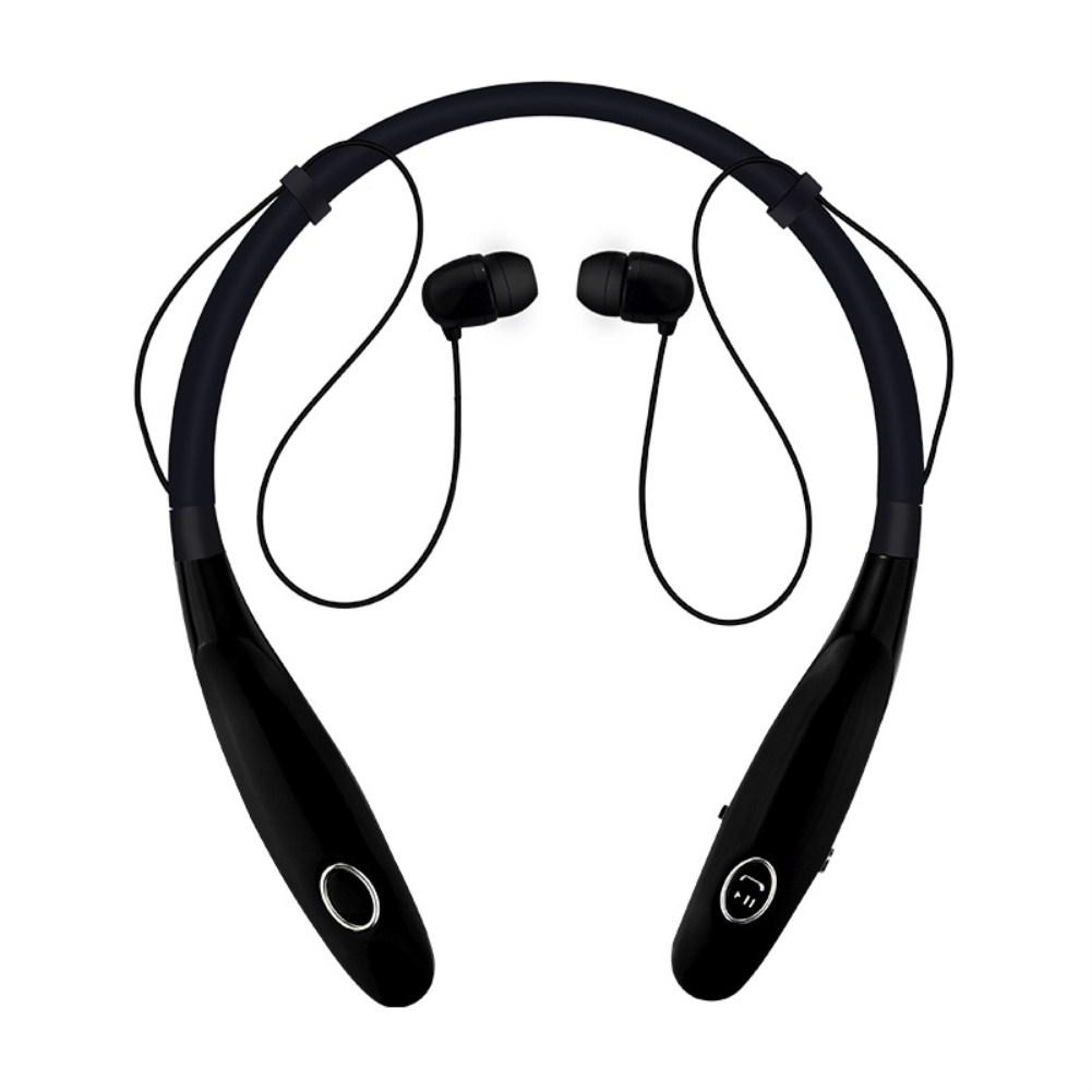 TWS Bluetooth Earphone Wireless Headphones Hanging Neck Type Sports Earbuds black