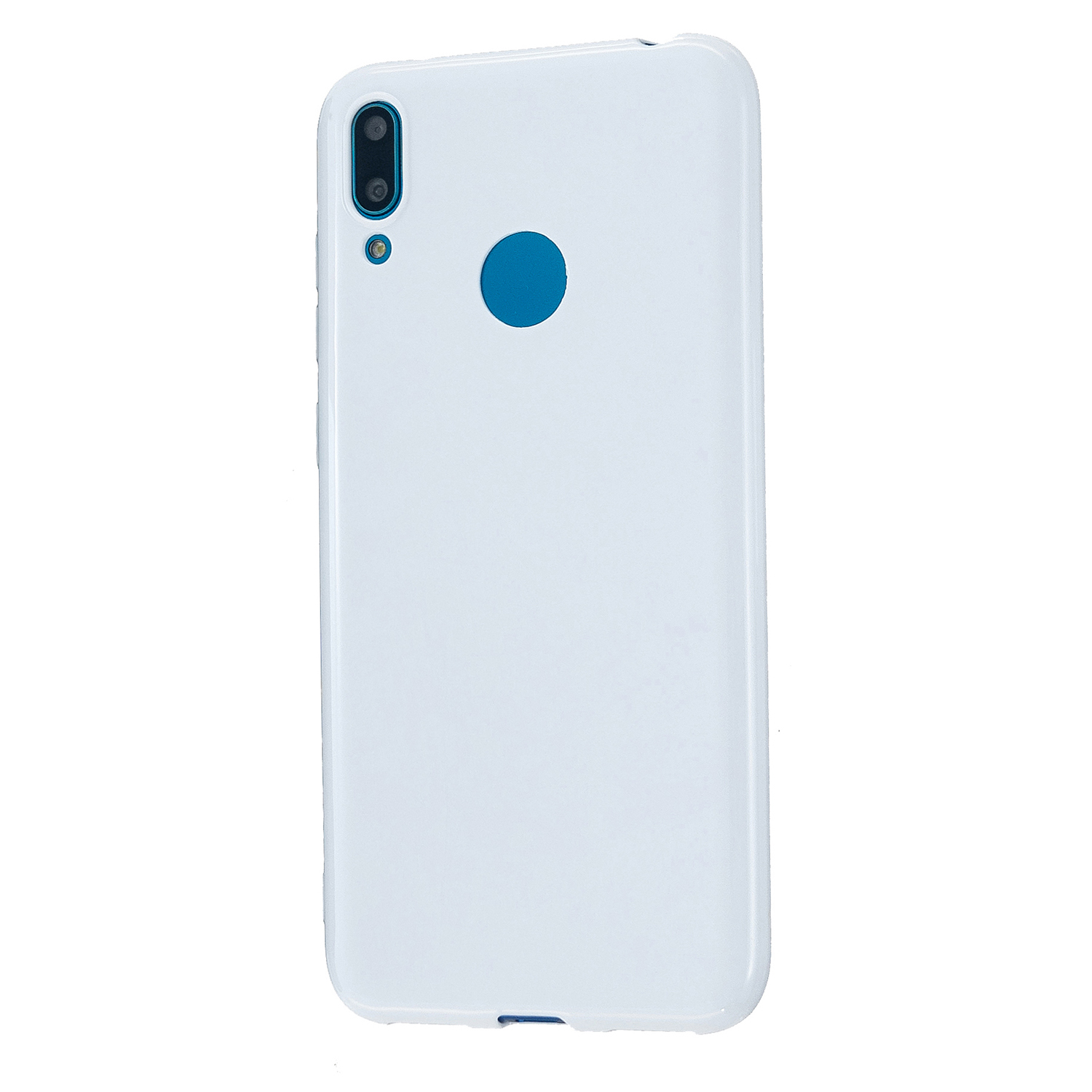 For HUAWEI Y6/Y7 Prime 2019 Glossy TPU Phone Case Mobile Phone Soft Cover Full Body Protection Milk white
