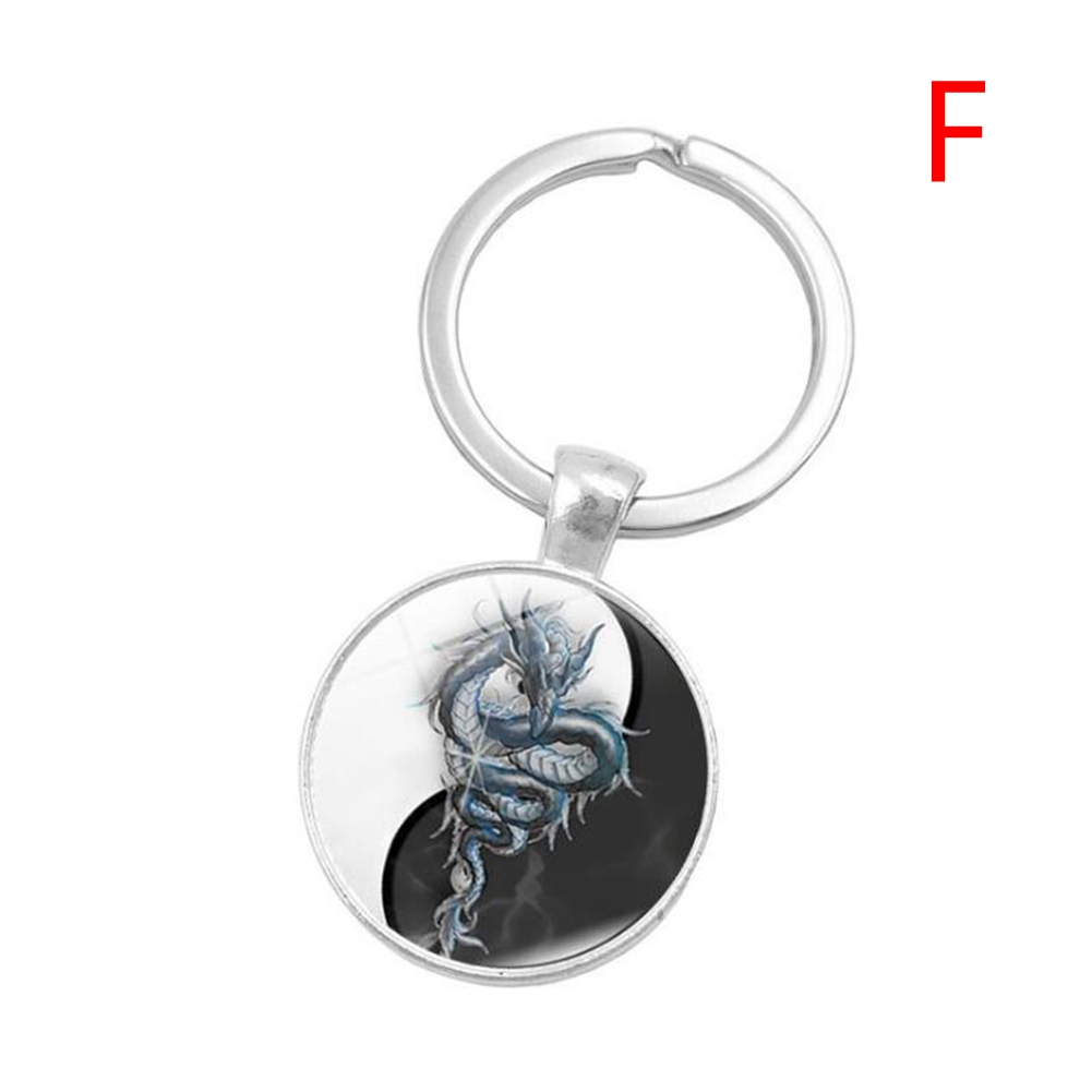 Portable Creative Fashion Key Chain Yin-Yang Tai Chi Sturdy Metal Key Ring YSK1790