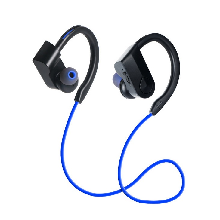 K98 Sports headset Sports Waterproof Wireless Bluetooth Stereo Headphones Headset Earphone blue