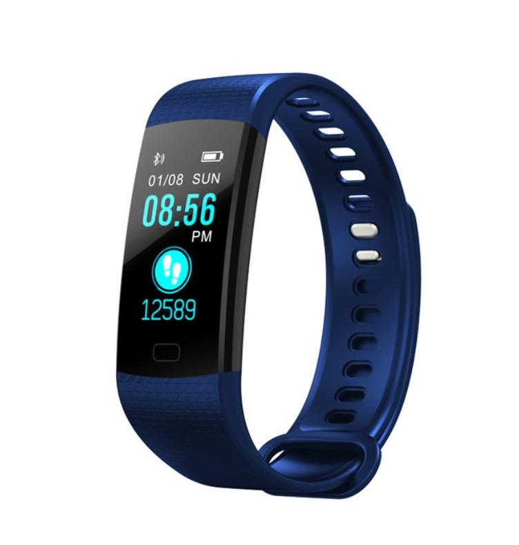 Y5 Smart Bracelet Color Screen Heart Rate Blood Pressure Blood Oxygen Health Monitoring Pedometer Smart Watch blue