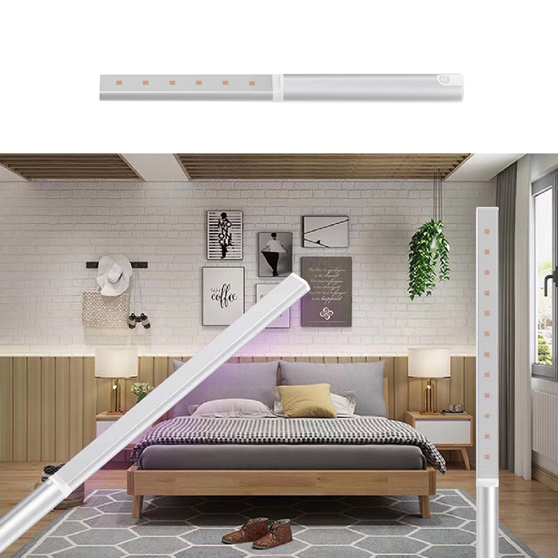 Handheld USB Germicidal Lamp Multi-Function Built-in Battery Portable Household UV Sterilizer  25cm_Short