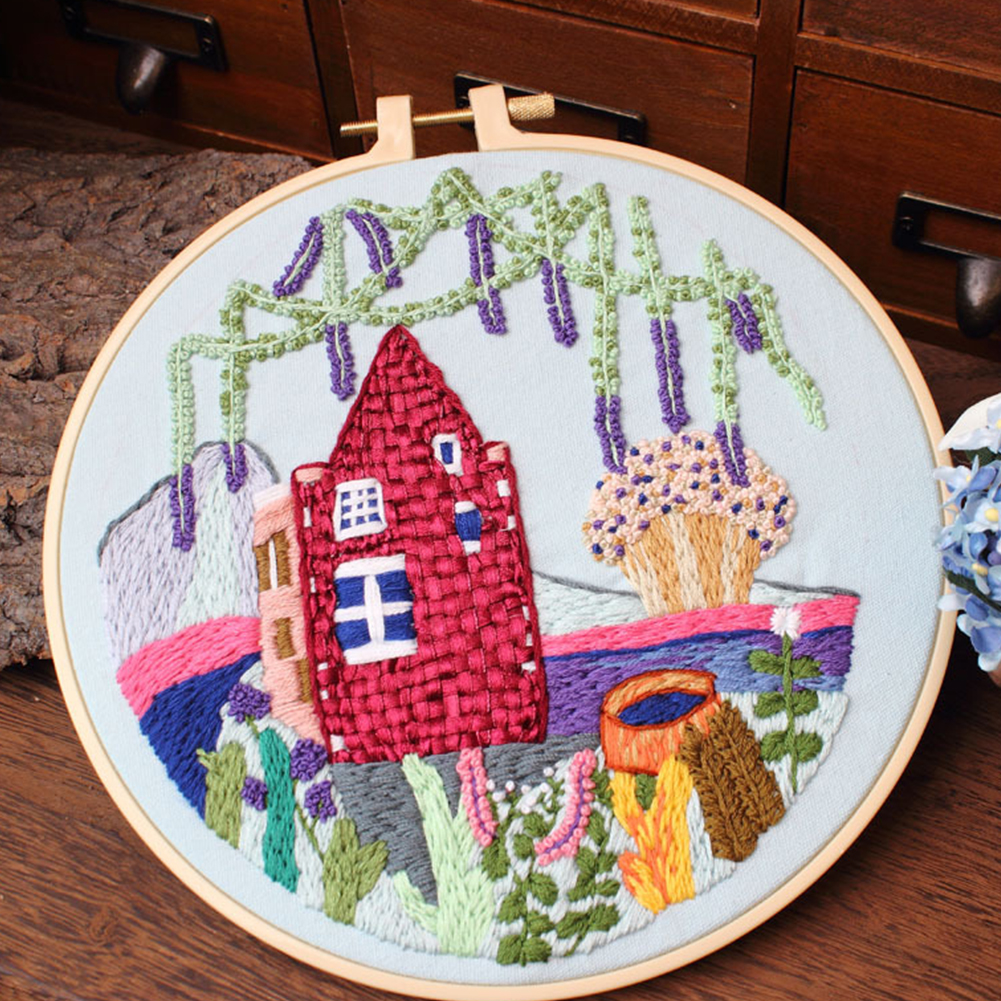 Diy Embroidery Kit for Beginners Adults Cross Stitch Patterns Starter Kits