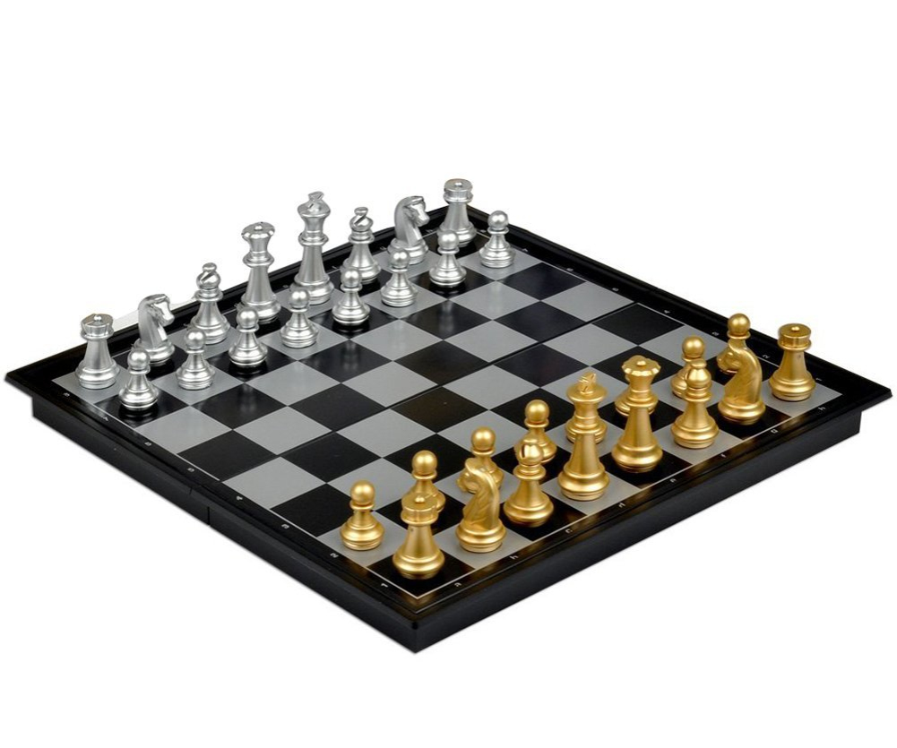 International Chess Set Magnetic Foldable Board Puzzle Toy 32*32CM As shown