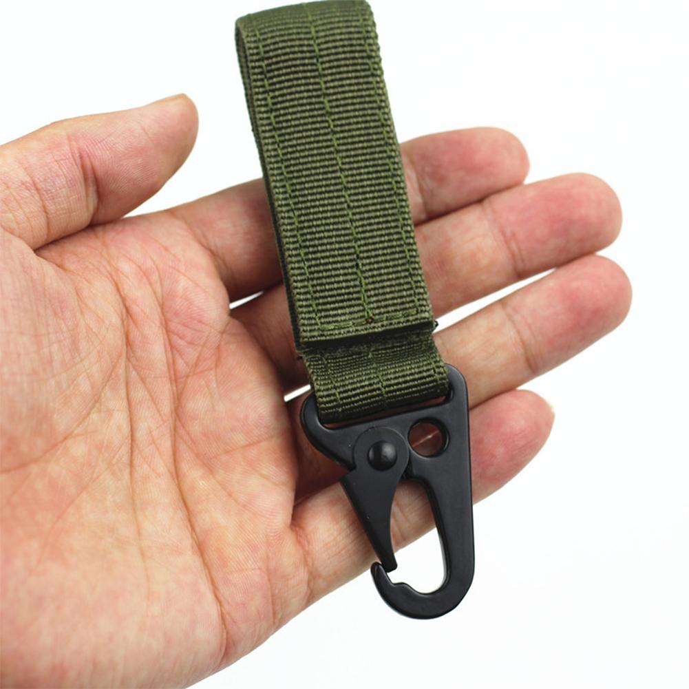 Multifunction Fashion Key Chain Key Ring Clip Buckle Holder ArmyGreen_11cm
