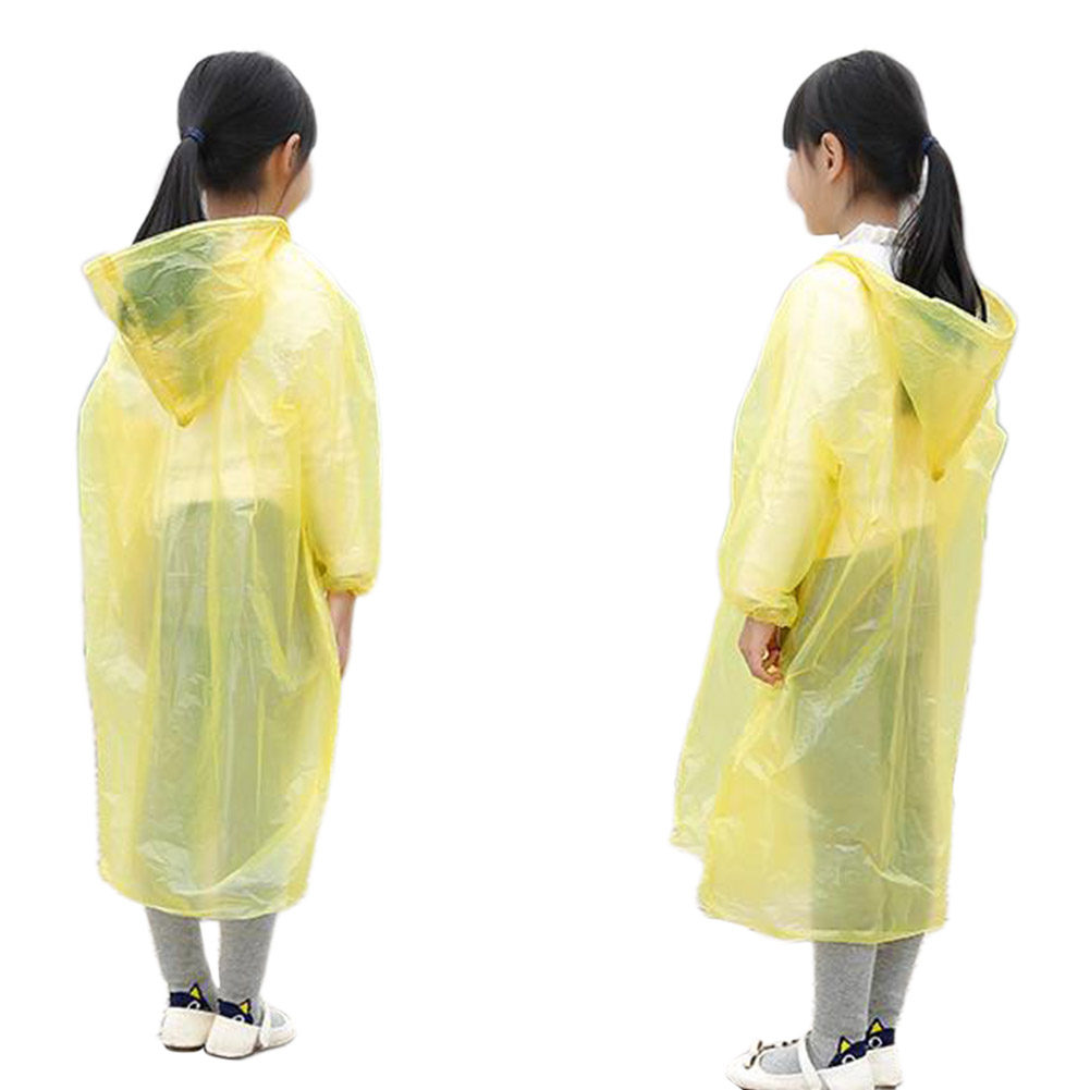 Children Disposable Raincoat Breathable Waterproof Raincoat for Travel Playground