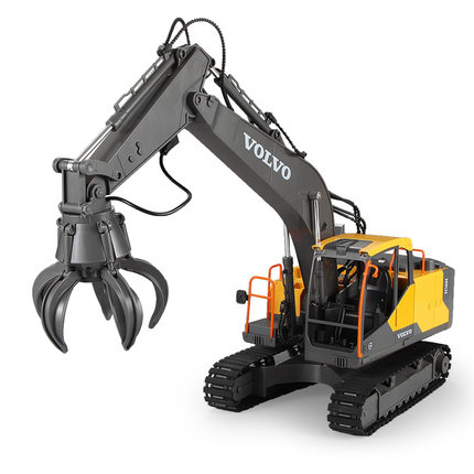 Children Remote-controlled Toy Digger Electric Remote Control Alloy Excavator Three-in-one Alloy Dipper E568-001