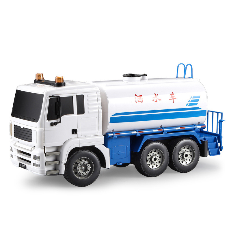 1:20 38CM Electric Remote Control Sprinkler Trucks Road Cleaning Engineering Vehicle Super Watering Cart RC Truck E577-001