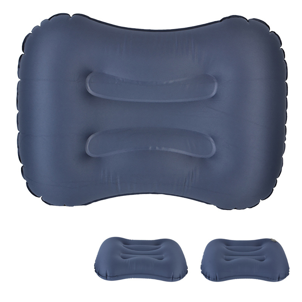 Air Pillow Outdoor Camping Indoor Inflatable Pillow Waist Pillow dark blue