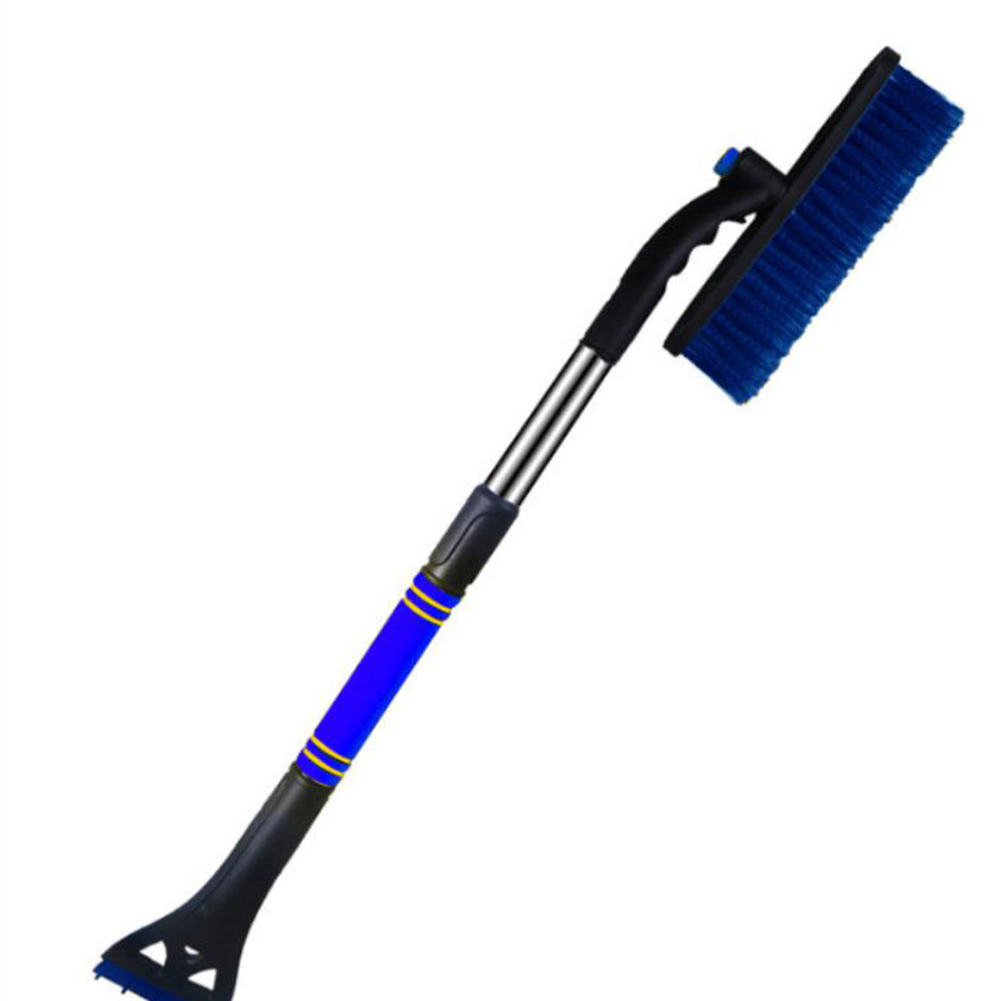 Car Retractable Snow Shovel  windshield scraper retractable snow thrower with foam handle  for car SUV truck Windows blue