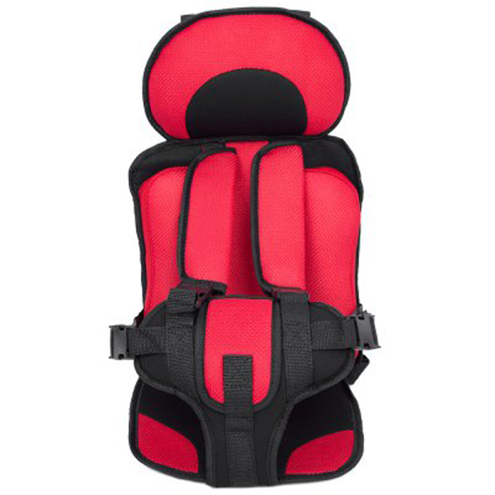 Portable Baby Safety Seat Cushion Pad Thickening Sponge Kids Car Seats for Infant Boys Girls red