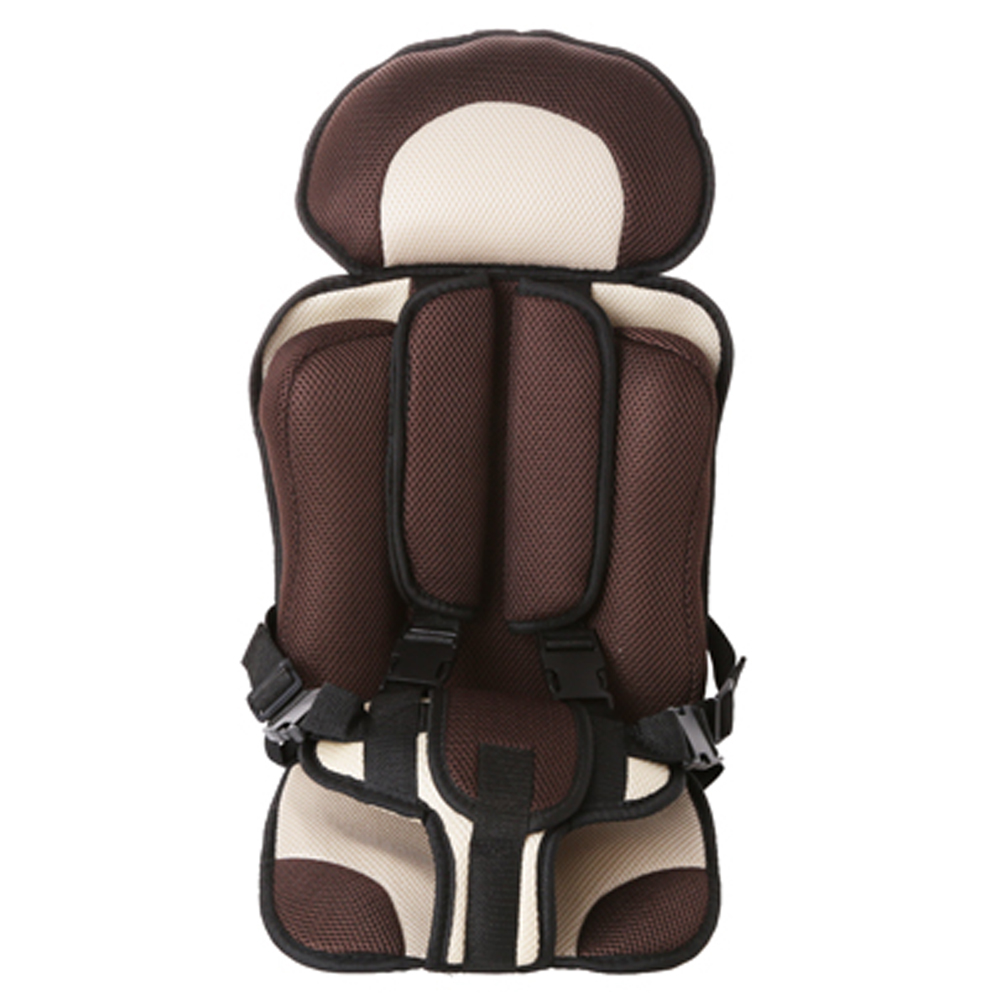 Portable Baby Safety Seat Cushion Pad Thickening Sponge Kids Car Seats for Infant Boys Girls Brown