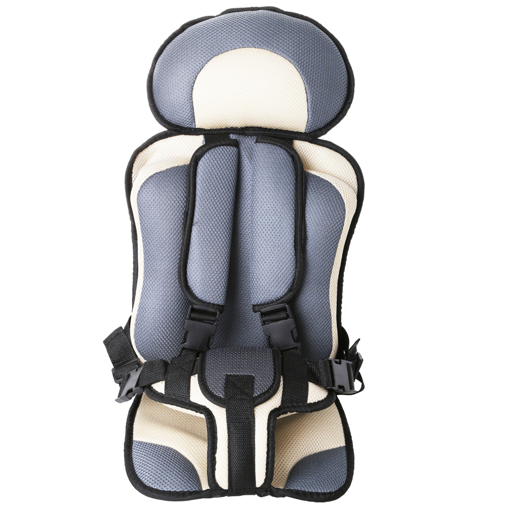 Portable Baby Safety Seat Cushion Pad Thickening Sponge Kids Car Seats for Infant Boys Girls gray