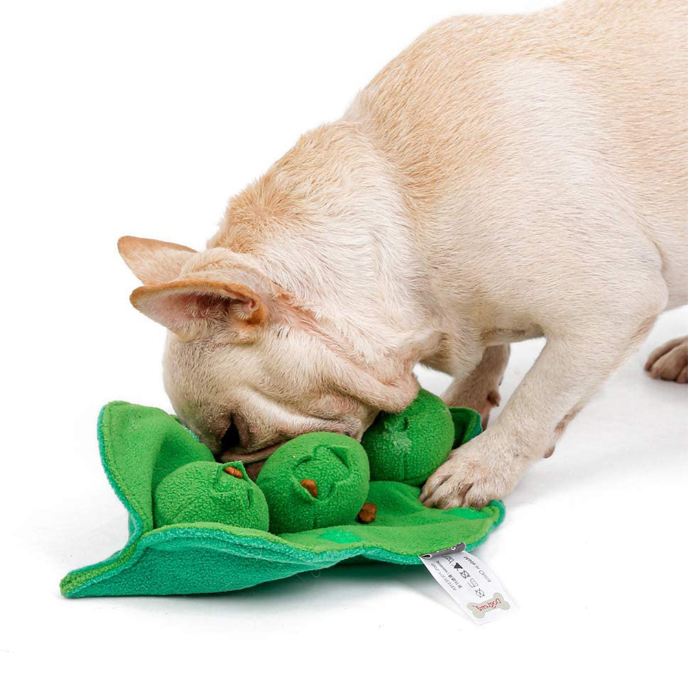 Iq Training Snuffle Sniff Training Plush Pet Toys Interative Squeaky Stuffed Pea Balls Toys green