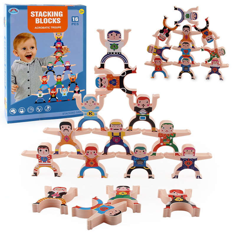 Children Educational Balance Hercules Acrobatic Man Child Stacking High Blocks Early Education Toys for Children default