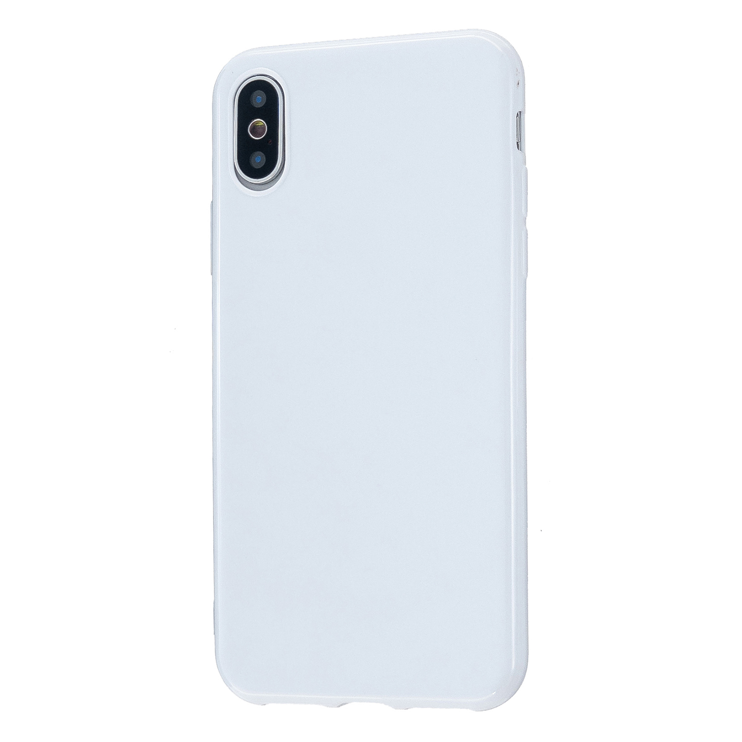 For iPhone X/XS/XS Max/XR  Cellphone Cover Slim Fit Bumper Protective Case Glossy TPU Mobile Phone Shell Milk white