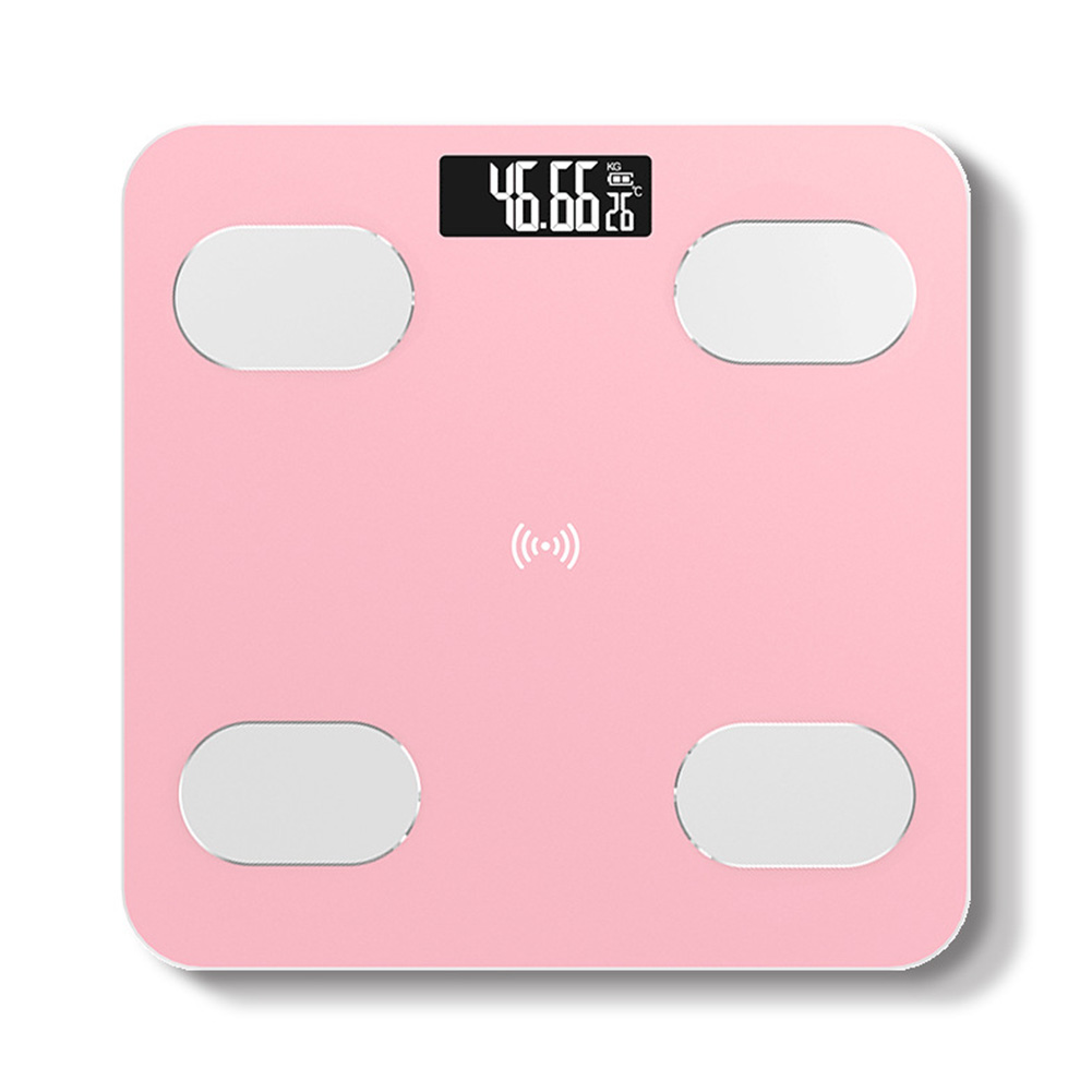 Body Fat Scale Electronic Scale Weight Balance Precise Domestic Weight Scale 6029 rose gold_28 * 28cm battery
