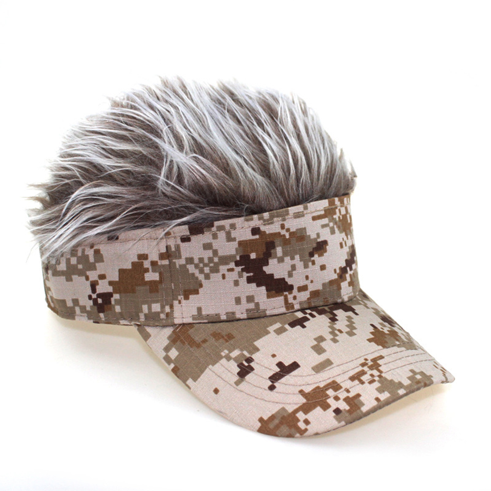 Camouflage Baseball Cap Show Wigs Caps Sunshade Hip Hop Hat Yellow camouflage blonde wig_adjustable