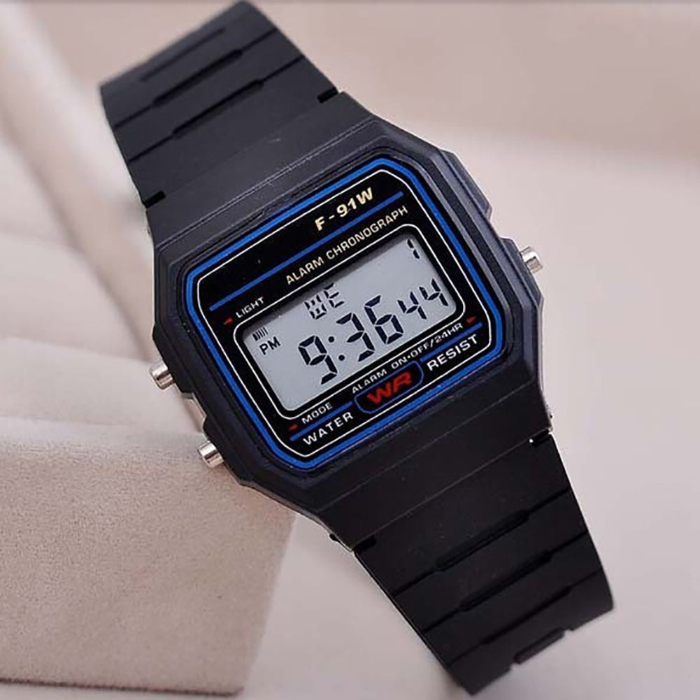 Electric Sport Watch LED Digital Waterproof Quartz Wrist Watch Gifts for Boys and Girls black