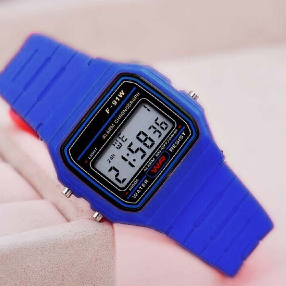 Electric Sport Watch LED Digital Waterproof Quartz Wrist Watch Gifts for Boys and Girls Dark blue