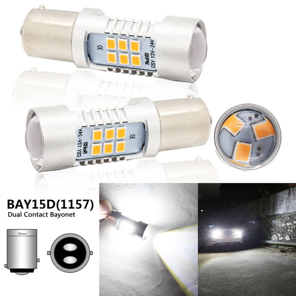 1 Pair Car Signal Lamp 2835 LED Stop Lamp Backup Light Steering Lamp 1157