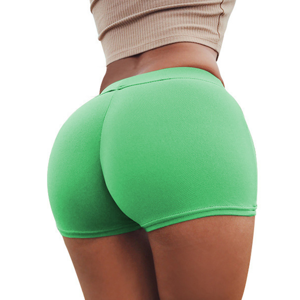 Women Boxer Elastic Sport Yoga Jogging Gym Exercise Tight Base Safety Boxer Shorts green_One size