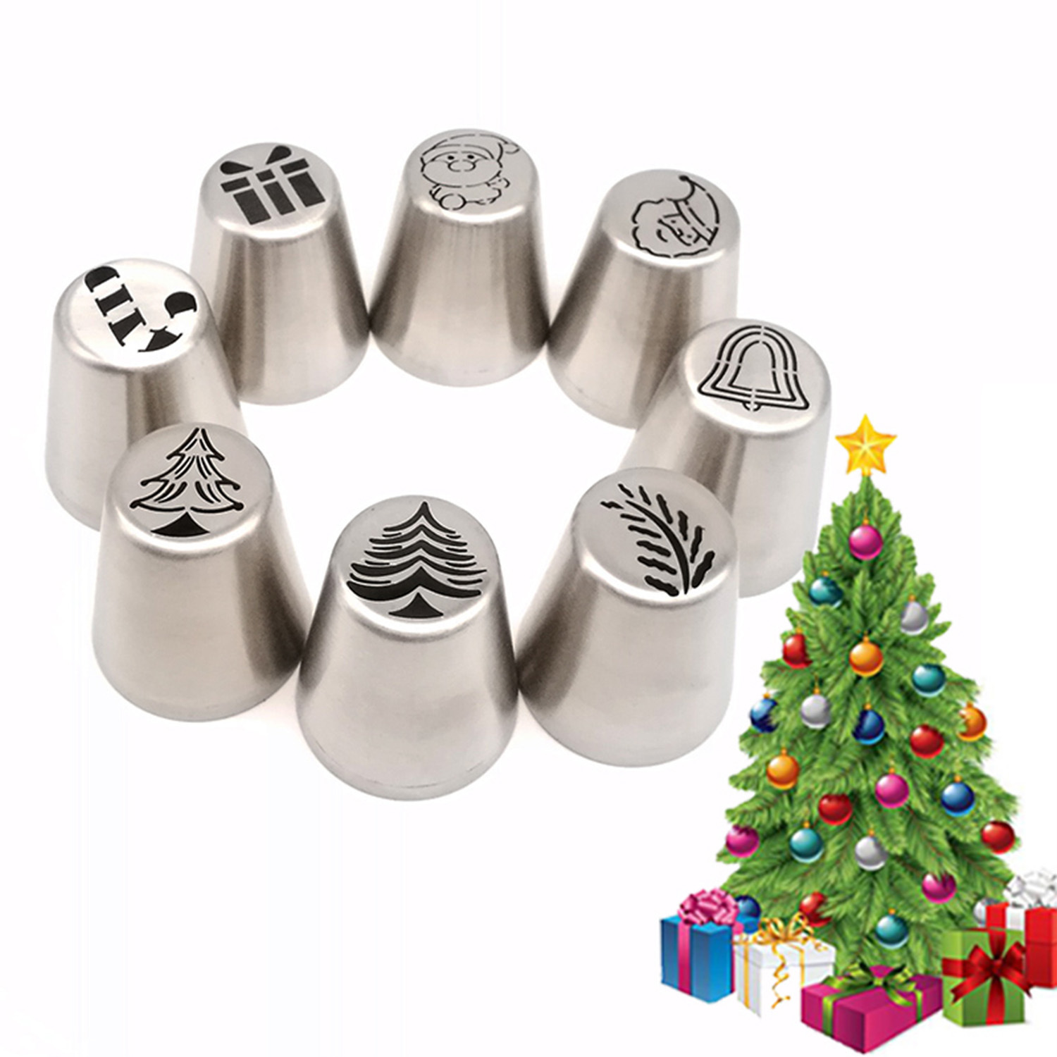 Christmas Cake Pastry Tube Mold Cream Icing Piping Nozzle Bakeware Cake Decoration Tool 6
