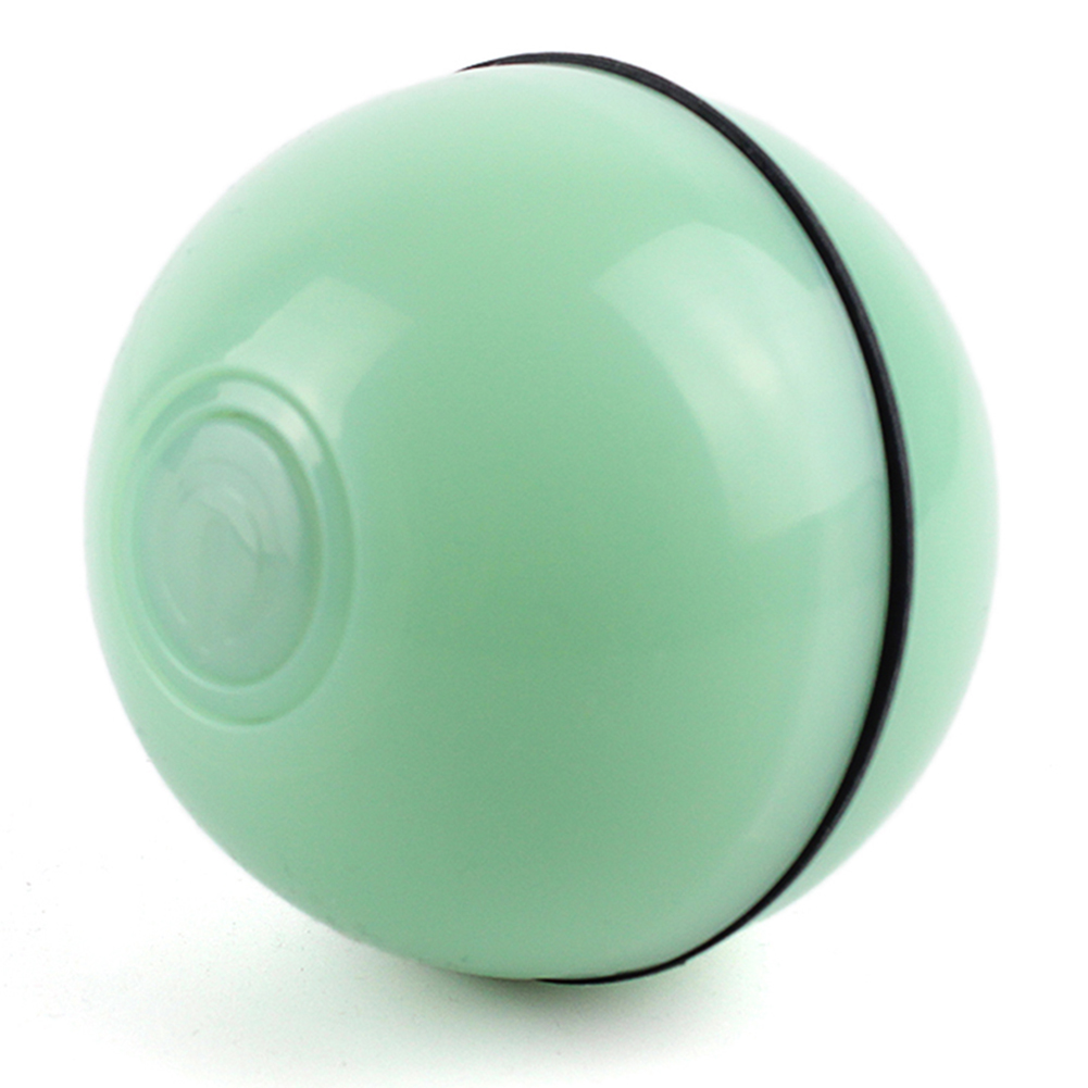 Interactive Cat Toy Ball Usb Rechargeable Automatic Rotating Electronic Pet Toy Rechargeable green_Approximately 6.4cm in diameter