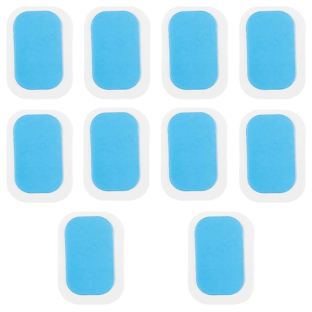 10pcs Professional EMS Abdominal Instrument Abdominal Muscle Paste Body Shaping Hip Trainer Butt Trainer sports Trainer Equipment Blue 4 * 6_Gel pads 4 * 6