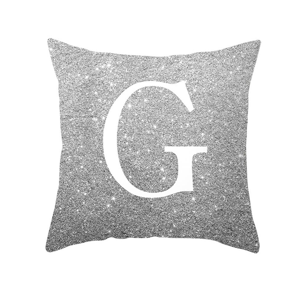 English Alphabet Throw  Pillow  Covers Sofa Car Cushion Cover Home Decorative Pillowcase 45*45cm g
