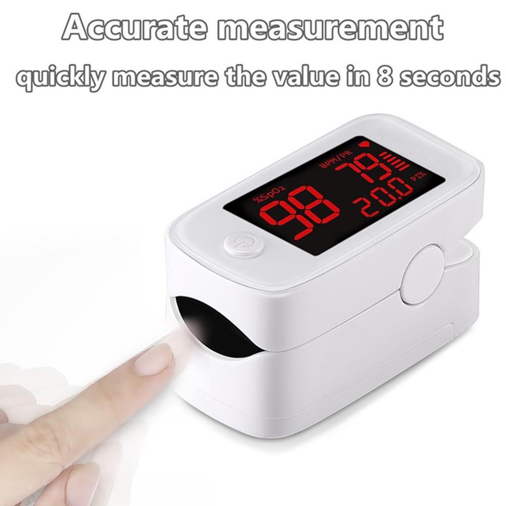 Finger Pulse Oximeter Medical Digital LED pulse Oximetro Blood Oxygen Heart Rate Meter white_Color box