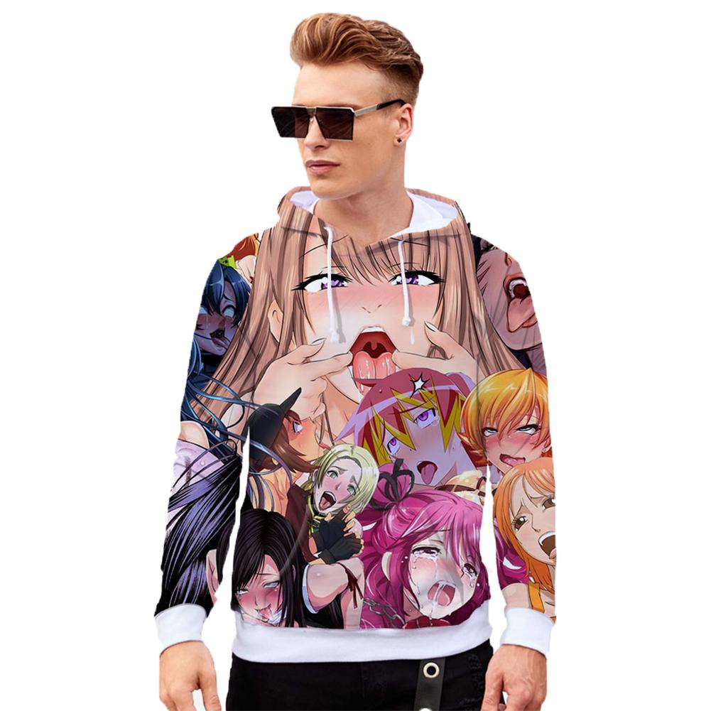 Unisex 3D Casual Digital Printing Fashion Pattern Long Sleeve Hooded Shirt Sweatshirts R style_XXL