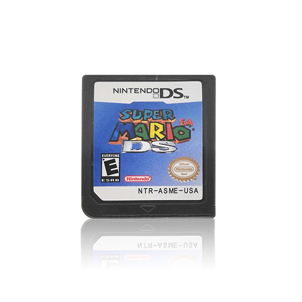 Handheld Console Video Game Cartridge Card for Nintend DS 3DS NDSi NDS Lite Super Mario 64 DS