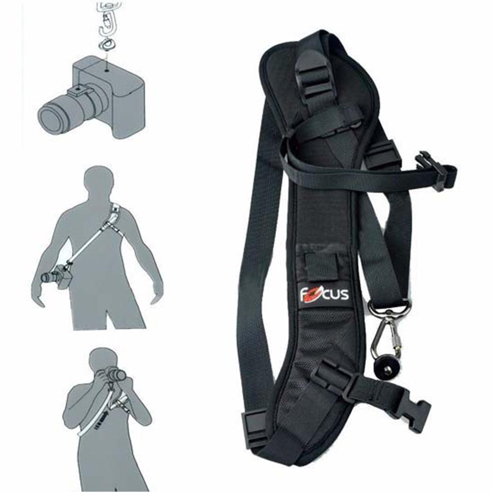 F-1 Holder Quick Camera DSLR SLR Single Shoulder Sling black