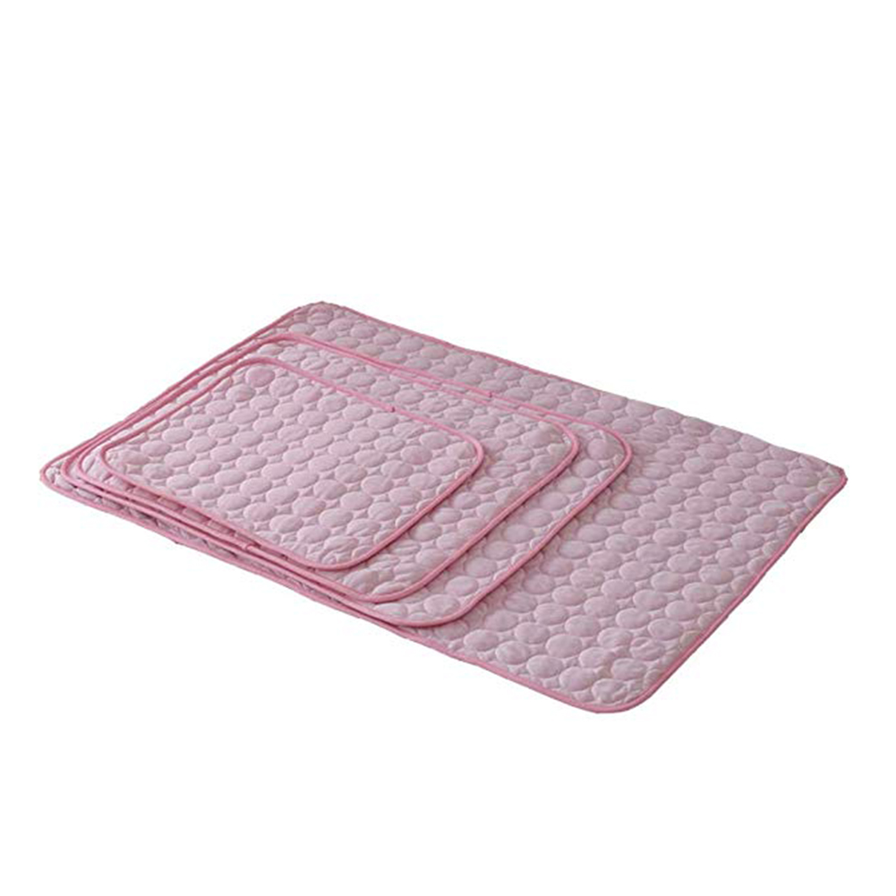 Solid Color Cooling Sleeping Mat for Summer Pet Cats Dogs Nest Supplies Pink_50*40cm