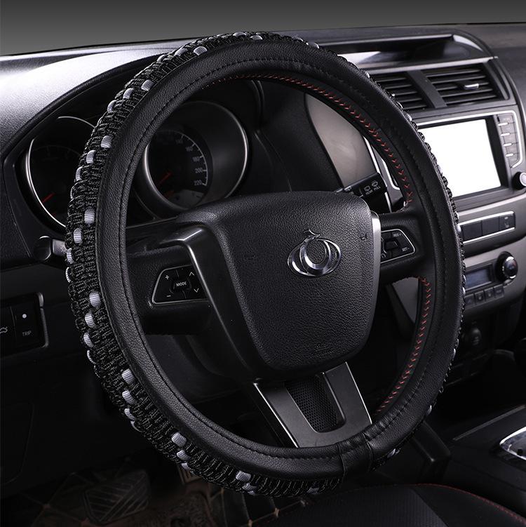 Four Seasons Universal ice Silk Steering Wheel Cover Car Handle Set Steering Wheel Cover
