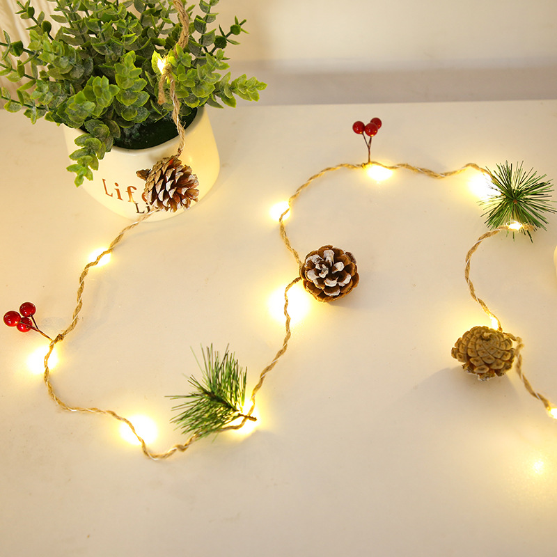 LED String light Pine Cone Copper Wire Fairy Garland Lights for Christmas Home Wedding Party