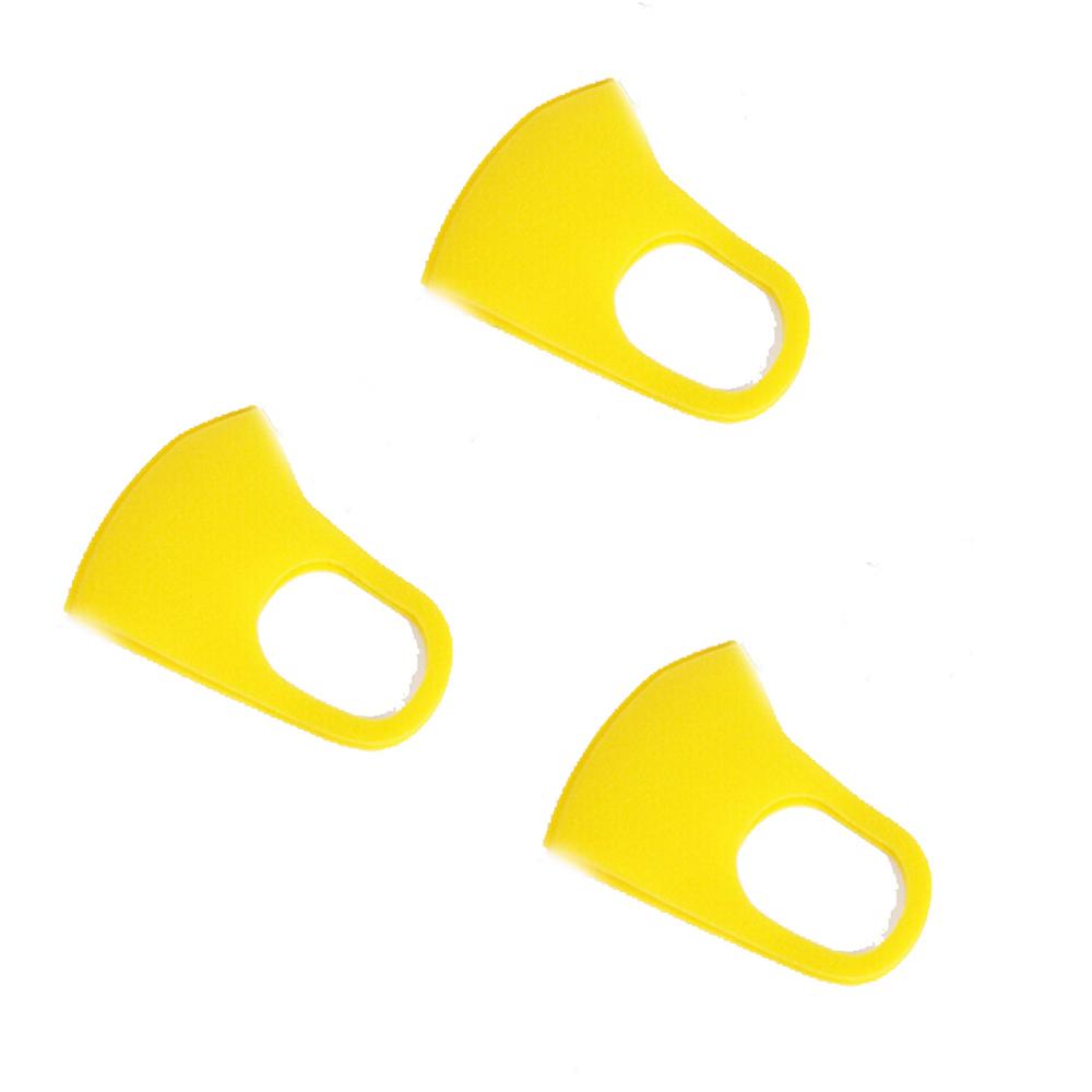 1pc/3pcs 3D Anti-fog Sponge Dustproof Washable PM2.5 Protective Mask for Kids yellow_3pcs