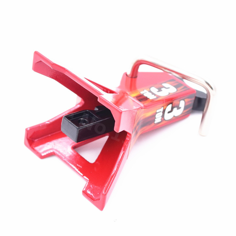 1pc 3/6 Ton 1:10 Scale Metal Jack Stands Height Adjustable Repairing Tool for 1/10 RC Crawler Truck Car Trx-4 Axial SCX10 3T